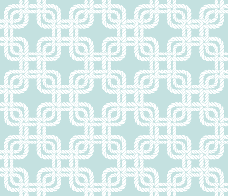 Rope squares blue fabric by hannahshields on Spoonflower - custom fabric