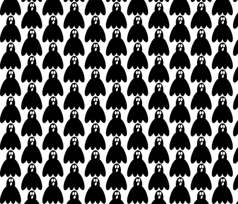 singing ghost fabric by pimpiniputtipa on Spoonflower - custom fabric