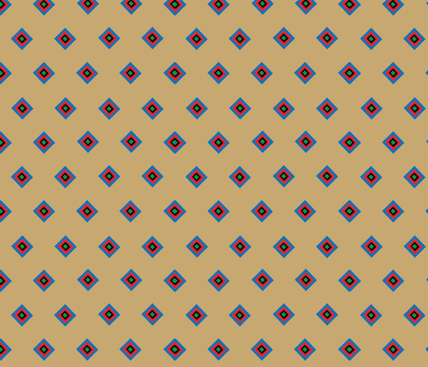 Tan Indian Companion Squares  fabric by almost_vintage on Spoonflower - custom fabric