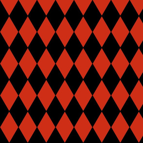 Harlequin Diamonds ~ Black And Red