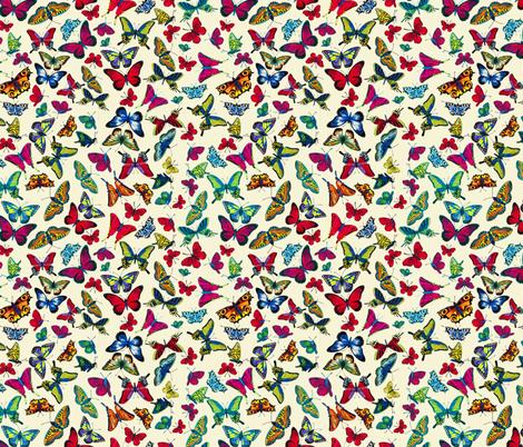 BUTTERFLIES-beige fabric by iesza-jessica on Spoonflower - custom fabric