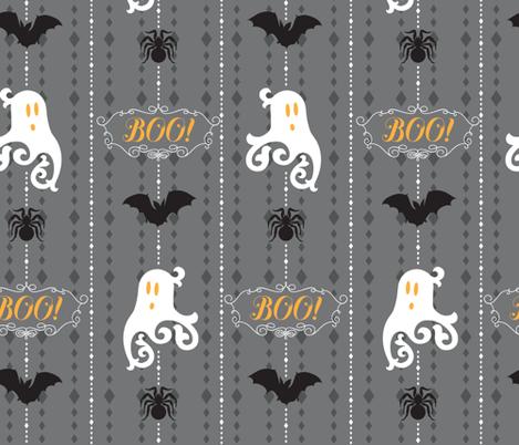 """Ghosts Say """"Boo"""" fabric by pollyannahandmade on Spoonflower - custom fabric"""
