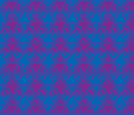 Sierpinski Triangle - Cool fabric by will_la_puerta on Spoonflower - custom fabric