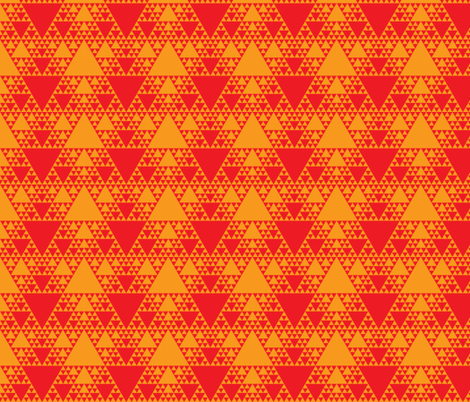 Sierpinski Triangle - Warm fabric by will_la_puerta on Spoonflower - custom fabric