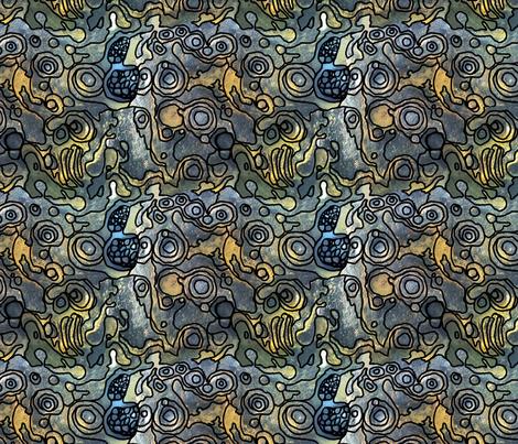 Rock Pool (c)indigodaze 2013 fabric by indigodaze on Spoonflower - custom fabric