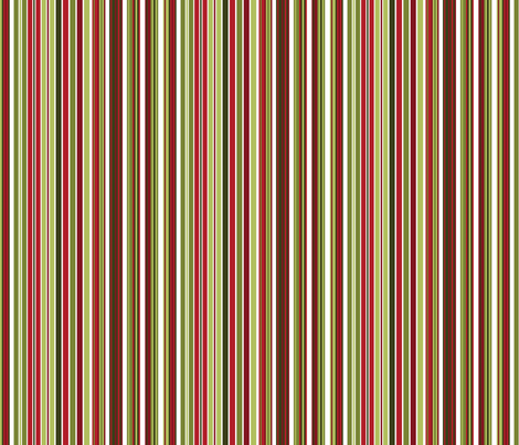 Christmas Stripe fabric by wrkdesigns on Spoonflower - custom fabric