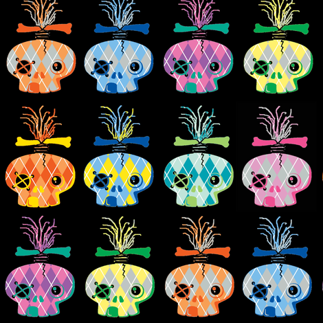 Abby Argyle Skulls fabric by paragonstudios on Spoonflower - custom fabric