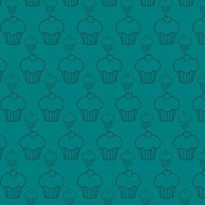 Cupcakes bleu canard