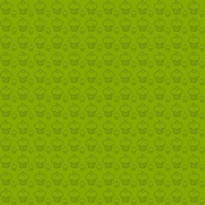 Cupcakes vert