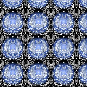 SKULL-biker-blue