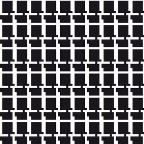 Abstract geometric raster pattern grid black