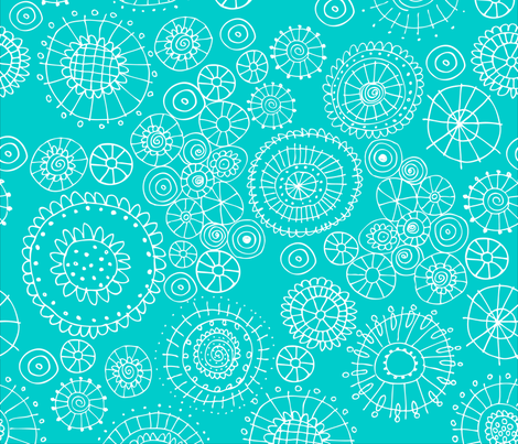 Sea Flowers fabric by snowflower on Spoonflower - custom fabric