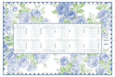 May Day Roses TEA TOWEL 2014