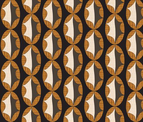 Cross Hatch Leaf on Black fabric by vanillabeandesigns on Spoonflower - custom fabric