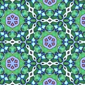 Green & Purple Lace Crochet Batik Design