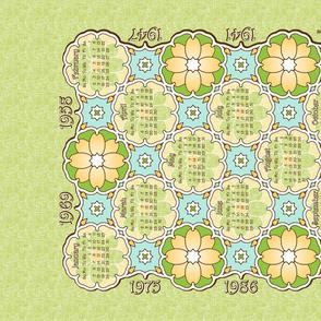 Anniversary Calendar 1941 - 2014 Green