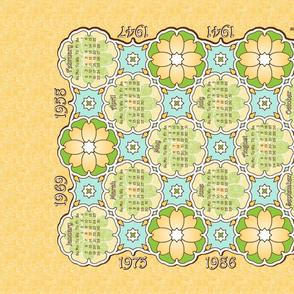 Anniversary Calendar 1941 - 2014 Yellow