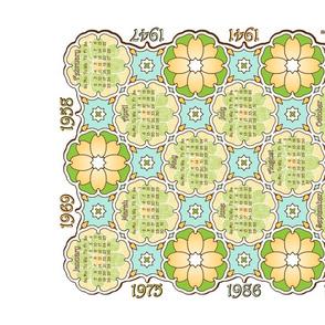 Anniversary Calendar 1941 - 2014 White
