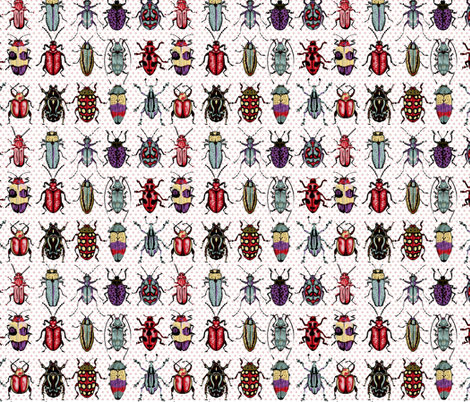 Beetles - natural colors fabric by chantal_pare on Spoonflower - custom fabric
