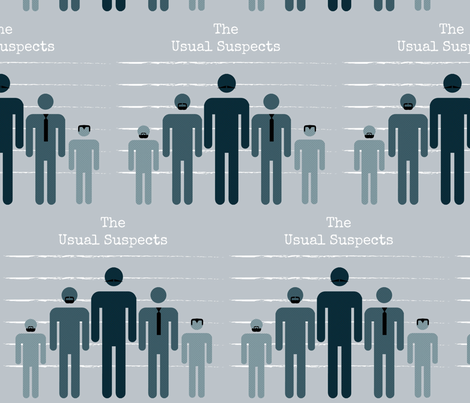 The Usual Suspects fabric by kfrogb on Spoonflower - custom fabric