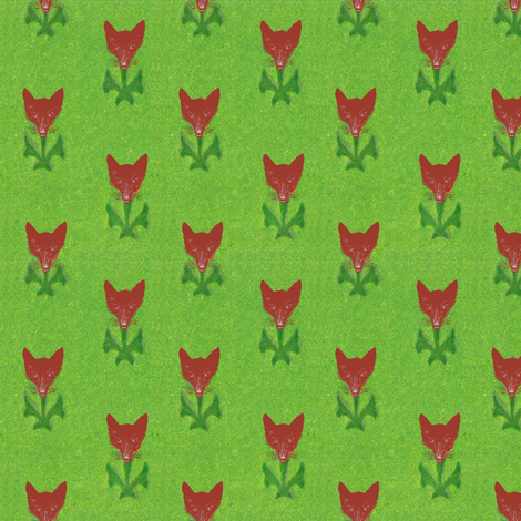 Fox Flowers fabric by ragan on Spoonflower - custom fabric