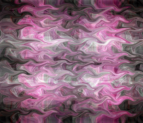 Fingers of Pink and Black fabric by anniedeb on Spoonflower - custom fabric