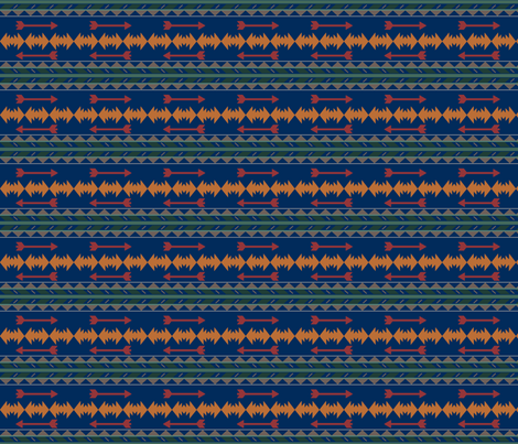 Out_West_Blue fabric by lana_gordon_rast_ on Spoonflower - custom fabric