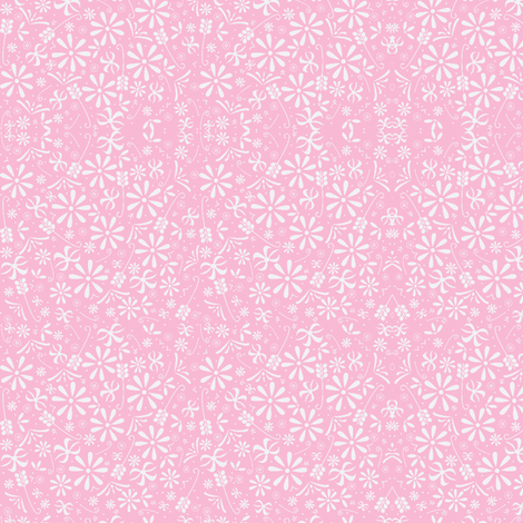 Spring Florals in Pretty Pink fabric by tavadesigns on Spoonflower - custom fabric