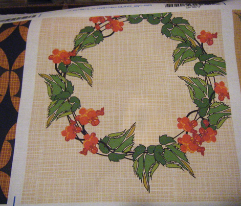 Bittersweet wreath on Cream Crosshatch