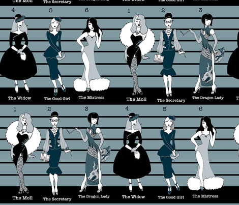 The Usual Suspects fabric by beesocks on Spoonflower - custom fabric