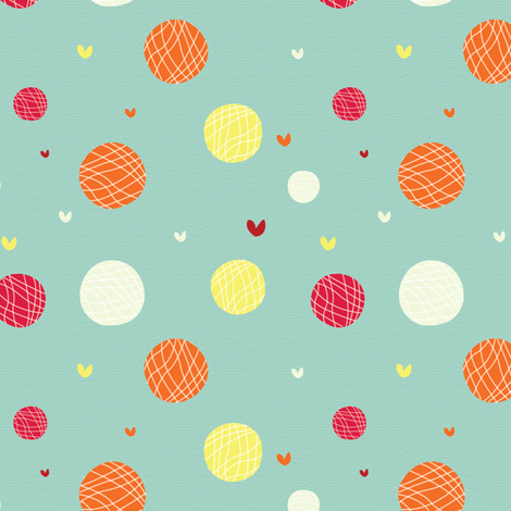 94 - Circles and Hearts fabric by witee on Spoonflower - custom fabric