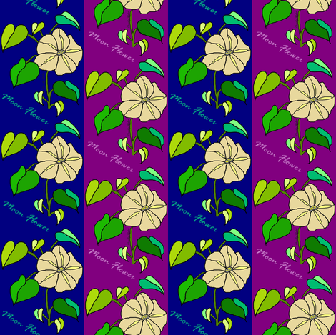 Moon Flower Vines fabric by chrisanne on Spoonflower - custom fabric