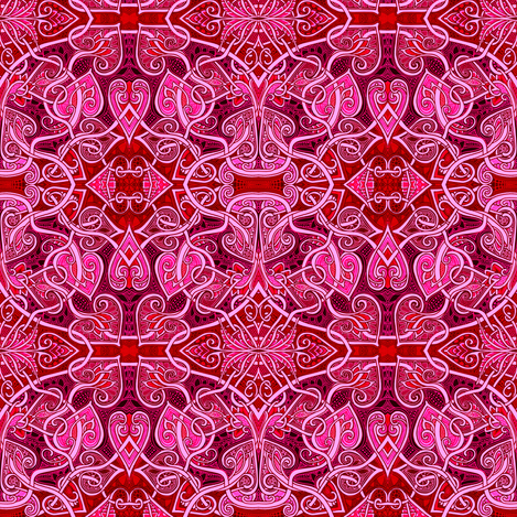 Meandering Heart fabric by edsel2084 on Spoonflower - custom fabric