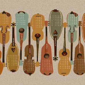 2019 Instrument Calendar  - Vintage