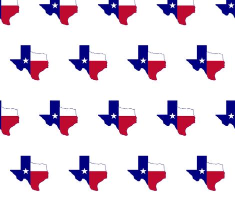 Texas Flag Map fabric by poltex on Spoonflower - custom fabric