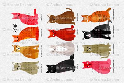 2018 Cat Calendar - Light Version by Andrea Lauren