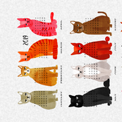 2019 Cat Calendar - Light Version by Andrea Lauren