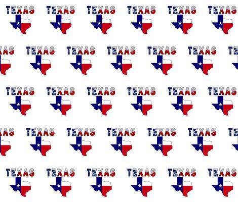 Texas Text Flag Map fabric by poltex on Spoonflower - custom fabric