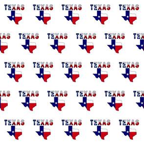 Texas Text Flag Map
