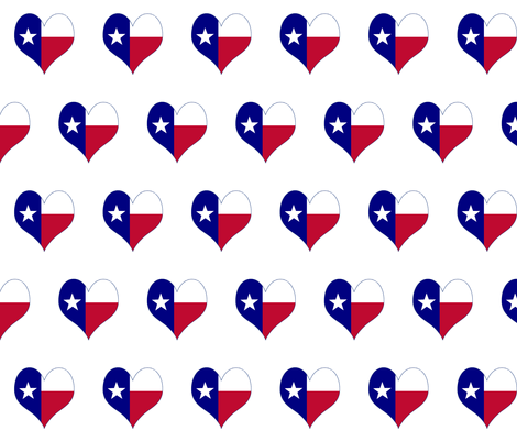 Texas Map Heart fabric by poltex on Spoonflower - custom fabric