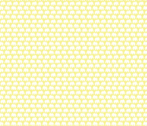 yellow Elephants fabric by plaidgoose_designs on Spoonflower - custom fabric