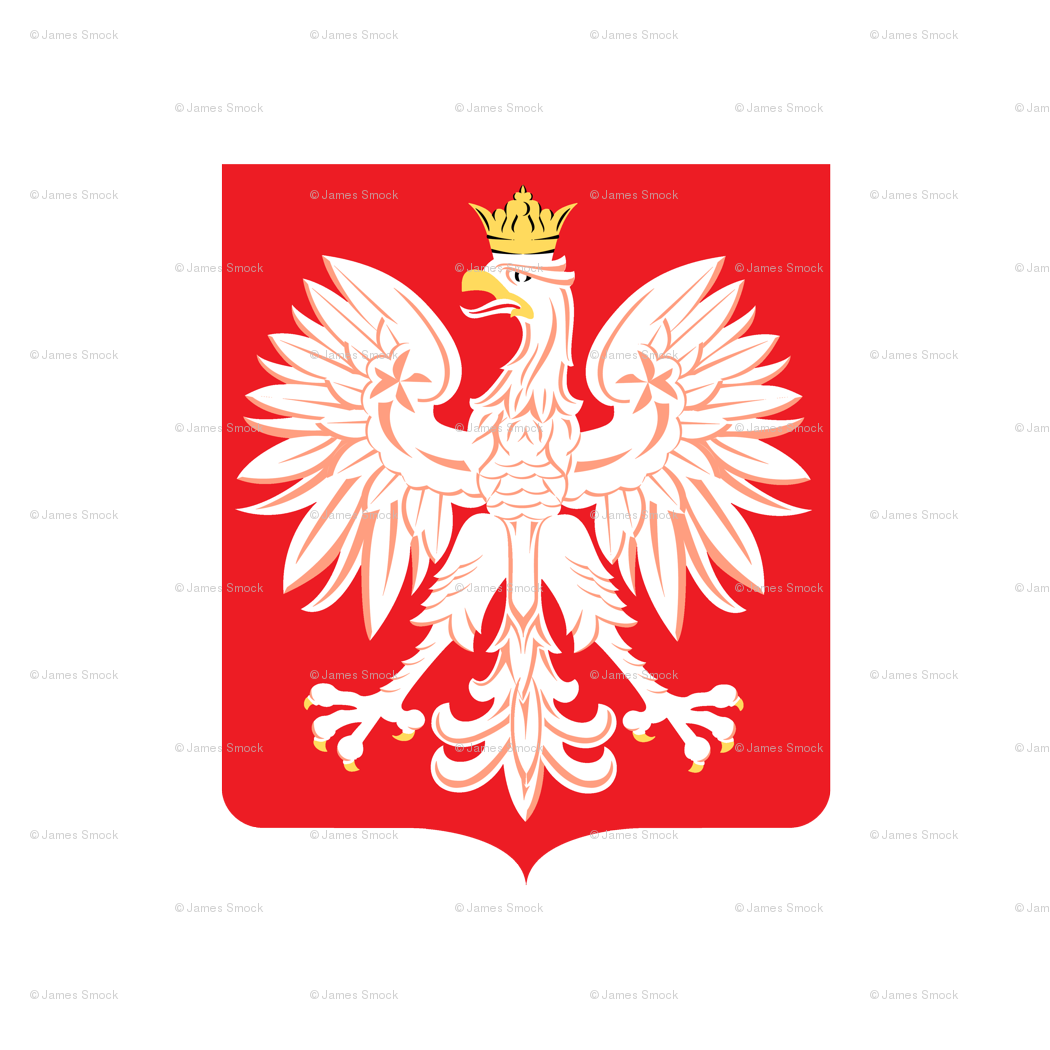 Polish Red Shield Emblem With Eagle Wallpaper Poltex Spoonflower