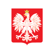 Polish Red Shield Emblem With Eagle