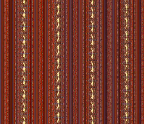Running Greyhound Stripe, Red and Yellow fabric by artbyjanewalker on Spoonflower - custom fabric
