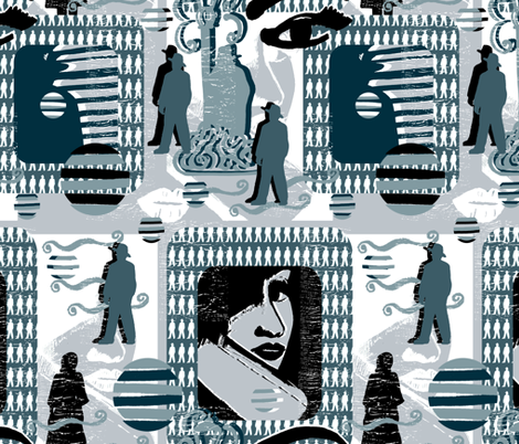 Silhouttes in the Shadows. fabric by slumbermonkey on Spoonflower - custom fabric