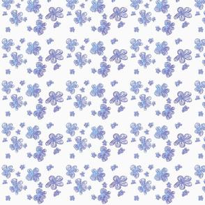 Bluey-Purple Pencil Crayon Flowers