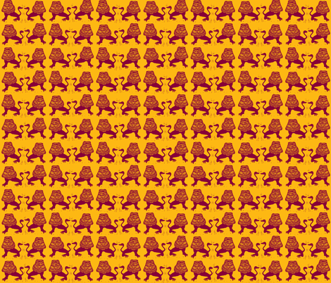 Hot Lions! fabric by bad_penny on Spoonflower - custom fabric
