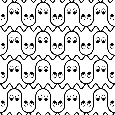 ghost 2j inscrutable fabric by sef on Spoonflower - custom fabric