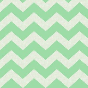 Chevron burlap / irish green