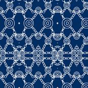 Links White on Blue